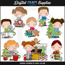 The Stick Kids - Christmas Morning - Clip Art