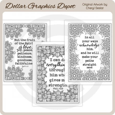 God's Word 1 - Coloring Pages