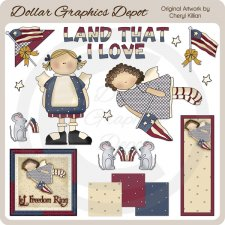 Americana Wishes - Clip Art