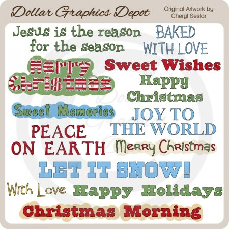 Deck The Halls Word Art
