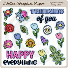 Pretty Flowers 1 - Clip Art