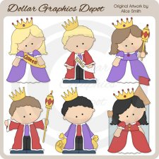Kings and Queens - Clip Art - *DGD Exclusive*