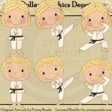 Karate Kids 1 - Clip Art