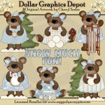 Snow Much Fun Bears - Clip Art - *DGD Exclusive*