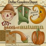 Faces of Autumn - Clip Art