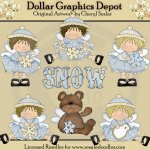 Little Snow Angel Beauties - Clip Art