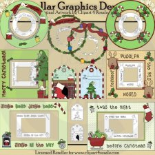 Christmas Frames and Tags - Combo Set