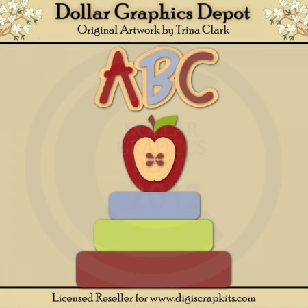 Apple For Teacher 2 - Cutting Files / Paper Piecing Patterns