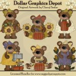 Autumn Bears - Clip Art - *DGD Exclusive*