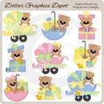 Baby Shower Bears - Clip Art