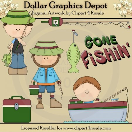 Gone Fishin - Clip Art - *DGD Exclusive*