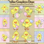 Little Chicks and Cards - Clip Art & Printables