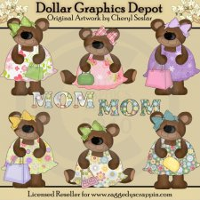 My Momma Bear - Clip Art - *DGD Exclusive*