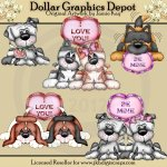 Puppy Love - Clip Art