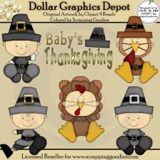 Baby's First Thanksgiving - Clip Art