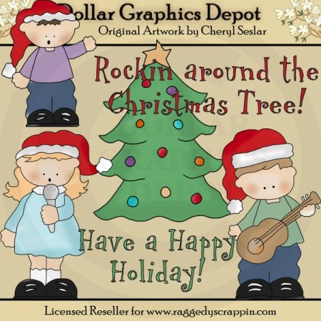 Rockin Around The Christmas Tree - Clip Art