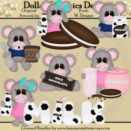Milk N Chocolate Mice - Clip Art - *DGD Exclusive*