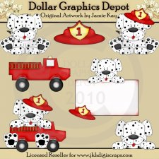 Fire Dogs - Clip Art