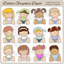 Sweet Toddlers - Clip Art