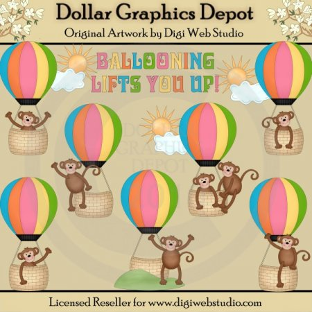 Hot Air Balloons - Clip Art