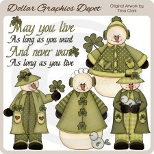 St. Patty's Snowmen - Clip Art