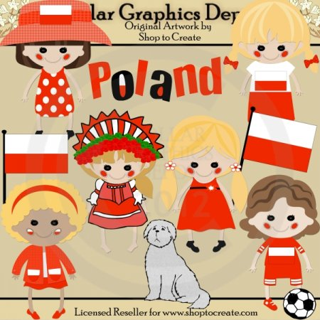 Polish Dolls - Clip Art