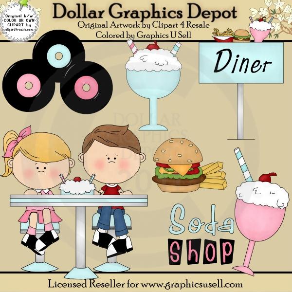 Go Back > Gallery For > 50s Clip Art Diner