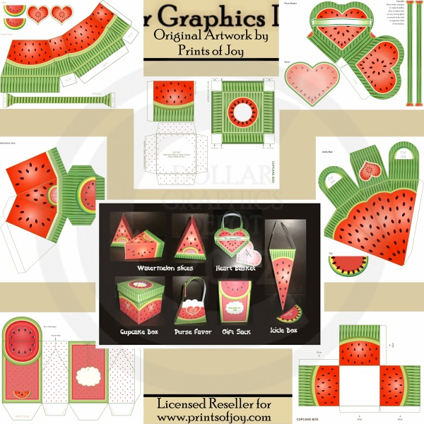 A Taste of Summer - Printable Craft Set - Click Image to Close