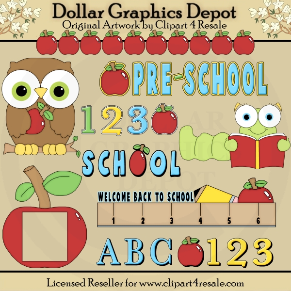 ABC Preschool - Clip Art - *DGD Exclusive* - Click Image to Close