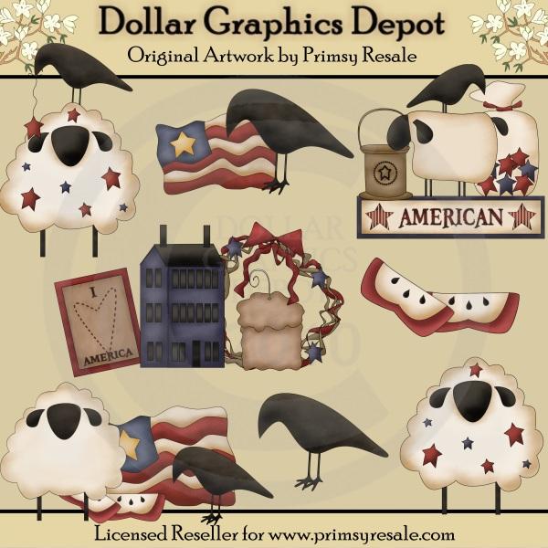 Prim / Primitive Clip Art : Dollar Graphics Depot - Quality ...