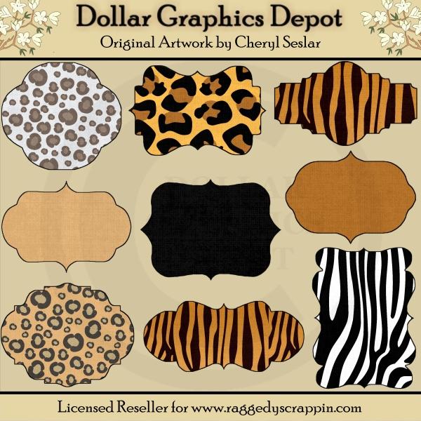 Animal Print Designer Frames