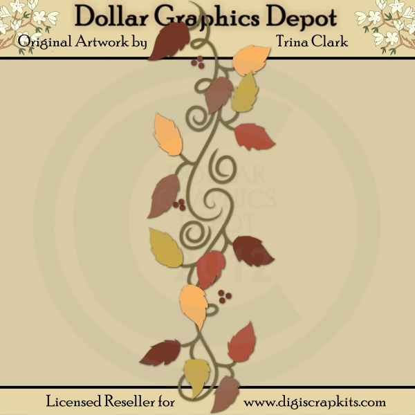 Autumn Border 1 Cutting Files Paper Piecing Patterns By Trina
