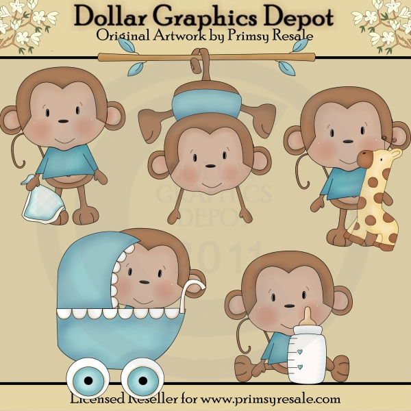 Monkey Clipart For Baby Shower Baby Shower Monkey Clipart