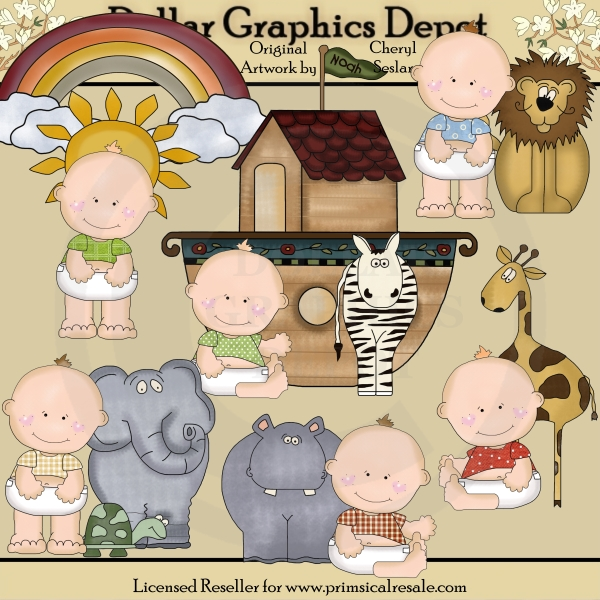 Baby Dimples - Noah's Ark - Clip Art - Click Image to Close