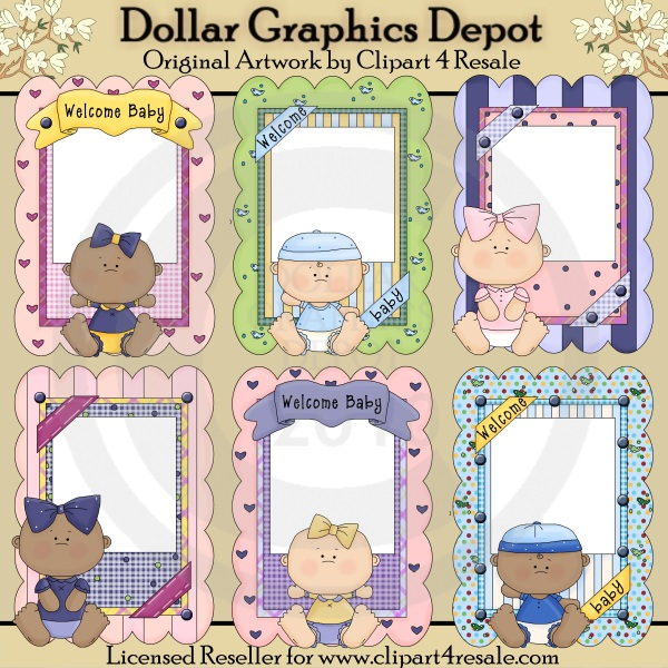Baby Picture Frames Printables 100 Dollar Graphics Depot