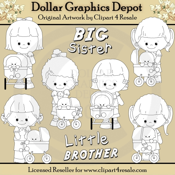 Big Sister - Little Brother - Digital Stamps - *DGD Exclusive* - Click Image to Close