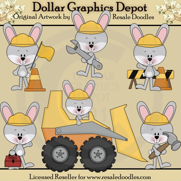 Bunny Builders - Builders - Clip Art - Click Image to Close