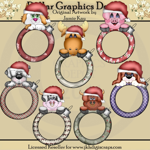 Christmas Critter Ornament Frames - Click Image to Close