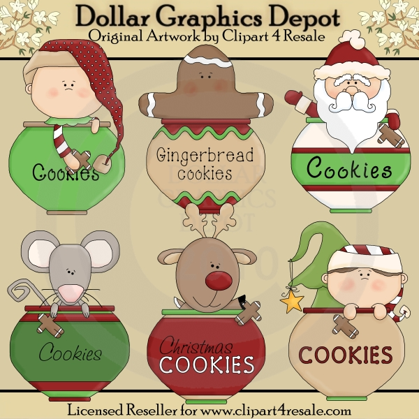 Cookie Jar Christmas - Clip Art - *DGD Exclusive* - Click Image to Close