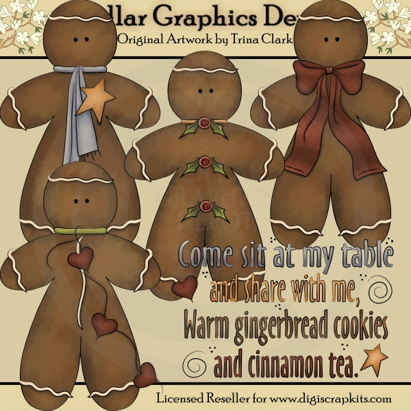 Country Gingerbread - Clip Art - Click Image to Close