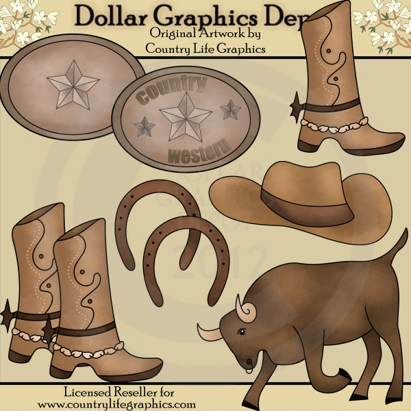 Country / Western Clip Art : Dollar Graphics Depot - Quality ...