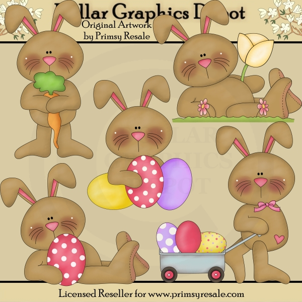 Easter Bunnies 2 - Clip Art - Click Image to Close