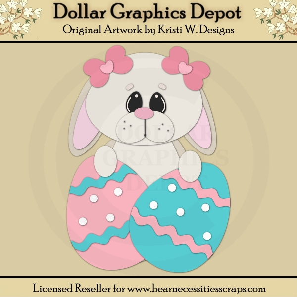Easter Bunny 3 - Cutting Files / Paper Piecing - *DGD Exclusive* - Click Image to Close