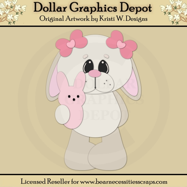 Easter Bunny 4 - Cutting Files / Paper Piecing - *DGD Exclusive* - Click Image to Close