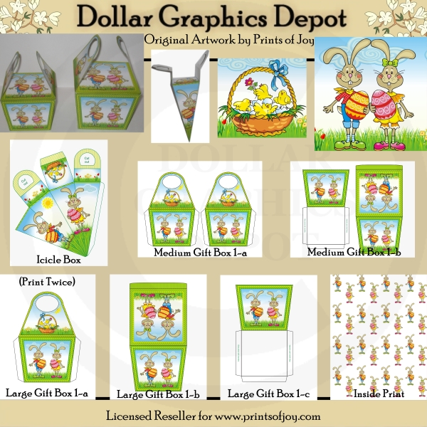 Easter bunny gift boxes printables 100 dollar graphics depot easter bunny gift boxes printables negle Choice Image