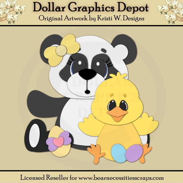 Easter Panda 1 - Cutting Files / Paper Piecing - *DGD Exclusive* - Click Image to Close