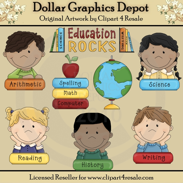 Education Rocks - Clip Art - *DGD Exclusive* - Click Image to Close