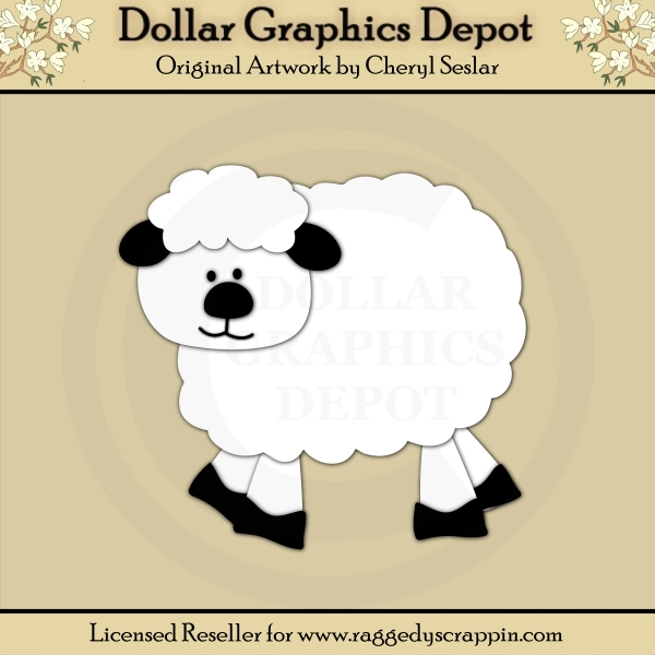 Farm 3 - Sheep - Cutting Files / Paper Piecing Patterns - Click Image to Close