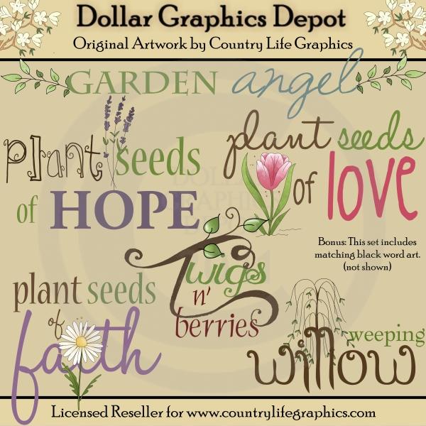 Great Garden Word Art