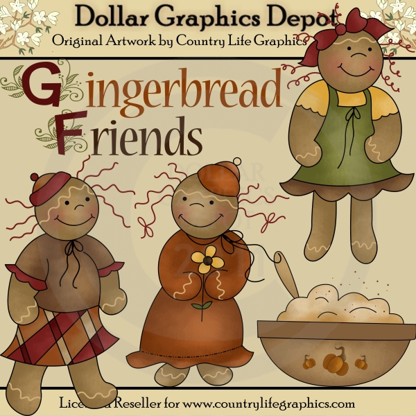 Gingerbread Friends - Clip Art - Click Image to Close